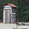 Oldtime Outhouse - Digital Art by Al Powell Photography USA
