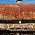 Ols Rusty Container Train Wagon by Juan Gnecco