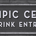 Olympic Center 1932 Rink Entrance - Monochrome by Stephen Stookey