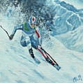 Olympic Downhill Skier by ML McCormick