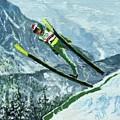 Olympic Ski Jumper by ML McCormick