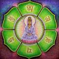 Om Mani Padme Hum Kuan Yin by Sue Halstenberg