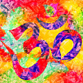 Om Symbol Rainbow 3d Texture by Lita Kelley