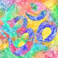 Om Symbol Rainbow Pastels 3d by Lita Kelley