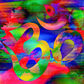 Om Symbol, Rainbow, Ver4 by Lita Kelley