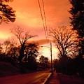 Ominous Orange Skies 1 by Timothy Smith