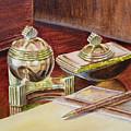 On A Desk At Eugene O Neill Tao House by Irina Sztukowski