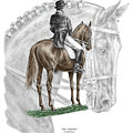 On Centerline - Dressage Horse Print Color Tinted by Kelli Swan