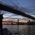 On Duty By Brooklyn Bridge New York by Celestial Images