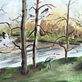 On Golden Pond by Yael Eylat-Tanaka