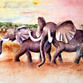 On Safari by Arline Wagner