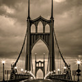 On St Johns Bridge by Wes and Dotty Weber