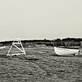 On The Beach - Avalon New Jersey In Sepia by Bill Cannon