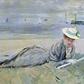 On The Beach  by Paul Cesar Helleu