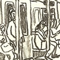 On The C Train, Nyc by Thor Wickstrom
