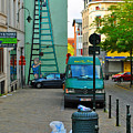 On The Ladder by Jost Houk