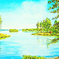On The Lake In A Sunny Day 2 by Anton Kalinichev
