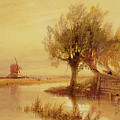 On The Norfolk Broads by Edward Duncan