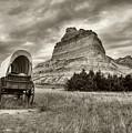 On The Oregon Trail # 2 Sepia Tone by Mel Steinhauer
