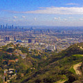 On The Road To Oz La Skyline Runyon Canyon Hiking Trail by David Zanzinger