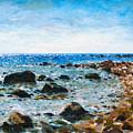 On The Rocks At Montauk by Ralph Papa
