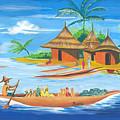 On The Shores Of Lake Kivu In Congo by Emmanuel Baliyanga