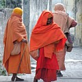 On The Way To Morning Prayers - India by Kim Bemis