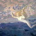 On The Wings Of The Morning by Edward Robert Hughes