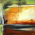 On Track Original Madart Painting by Megan Duncanson
