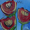 Once Upon A Yoga Mat Poppies 2 by Laurie Maves ART