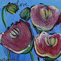 Once Upon A Yoga Mat Poppies 3 by Laurie Maves ART