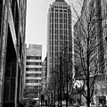 One Atlantic Center In Black And White by Jill Lang