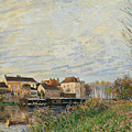 One Evening At Moret End Of October by Alfred Sisley