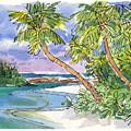 One-foot-island, Aitutaki by Judith Kunzle
