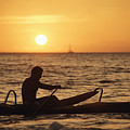 One Man Canoe by Sri Maiava Rusden - Printscapes