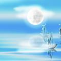 One Moon Light Sea by Artist Nandika Dutt