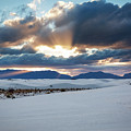 One More Moment - Sunburst Over White Sands New Mexico by Southern Plains Photography