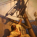 One More Step Mr. Hands - N.c. Wyeth Painting by PaintingAssociates