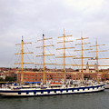 One Of Star Clipper's Masted Cruise Liners Docked In Venice Italy by Richard Rosenshein