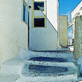 One Of The Streets Of Santorini by Alex Galkin