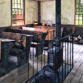 One Room Schoolhouse With Stove by Susan Savad