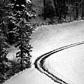 One Way - Winter In Switzerland by Susanne Van Hulst