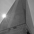 One World Trade Center New York Ny Sunset Black And White by Toby McGuire