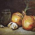 Onions And Garlic  by Alex Loza