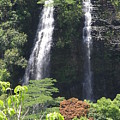 Opaekaa Falls On Kauai Before A Storm by Mary Deal