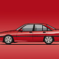 Opel Omega A, Vauxhall Carlton 3000 Gsi 24v Red by Monkey Crisis On Mars