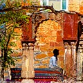 Open Air Bed Among The Arches India Rajasthan 1a by Sue Jacobi