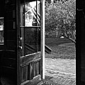 Open Door B-w by Christopher Holmes