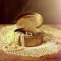 Open Jewelry Box With Pearls by Jill Battaglia