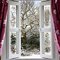 Open Window With Winter Scene by Simon Bratt Photography LRPS